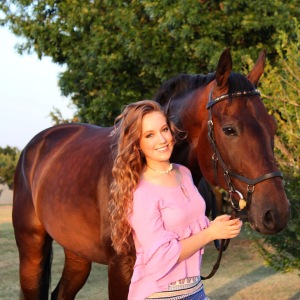 Dresden Sutherland and her horse, Cree.
